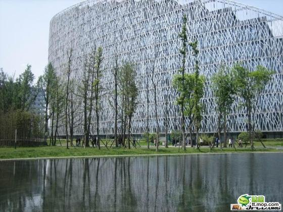 A Chinese government building in Chengdu city of Sichuan, China.