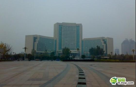 A Chinese government building in Weifang city of Shandong, China.