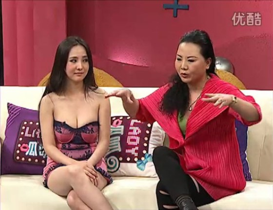 "Chinese actress, model, and internet celebrity with her mother on variety talk show ""Lady Gua Gua"" describing how Gan Lulu learned how to hump when she was less than 1-year-old."