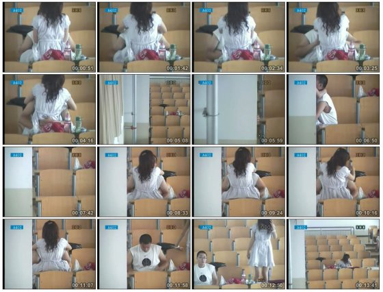 Hebei Polytechnic University student lovers secretly fimed having sex in an empty classroom.