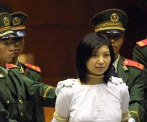 Drug trafficker Tao Jing in court.