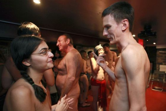 New Yorkers at a naked party.