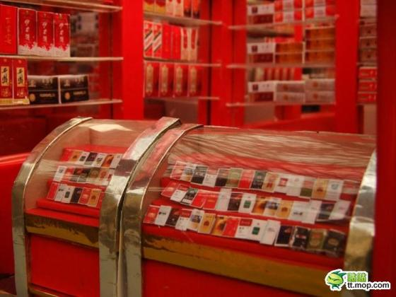 A miniature Chinese tobacco and alcohol store.