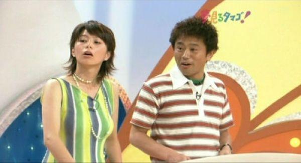 Sugiura Yuki, a news anchor for Japan's NHK tv station's morning news program.