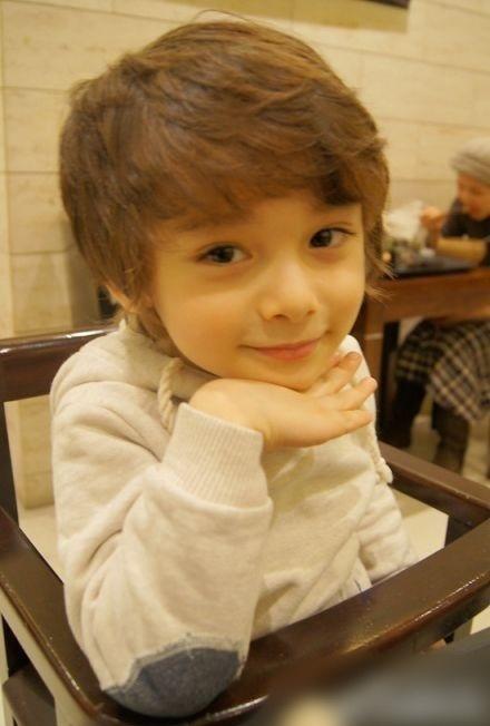 Cute mixed-race little boy.