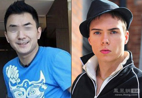 Chinese international student and victim Lin Jun (left), Canadian murder suspect Luka Rocco Magnotta (right).