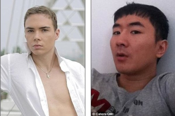 Luka Rocco Magnotta (left) and Lin Jun (right).