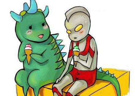 ultraman and monster