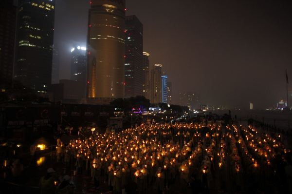 Candle-lit Earth Hour 2013 in Shanghai.