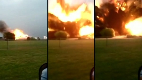 A Texas fertilizer plant explosion captured on a cell phone video recording.