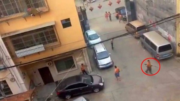 Two groups of men open fire on each other in Guangxi with homemade guns and hunting rifles, in a country where private gun ownership is strictly regulated and generally illegal.