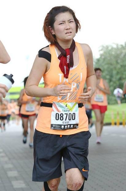 Taiwanese Star Selena Runs Marathon, Reveals Scarred body