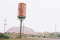 Giant Coke can erected by the famed Dona Paulina chicharrone eatery