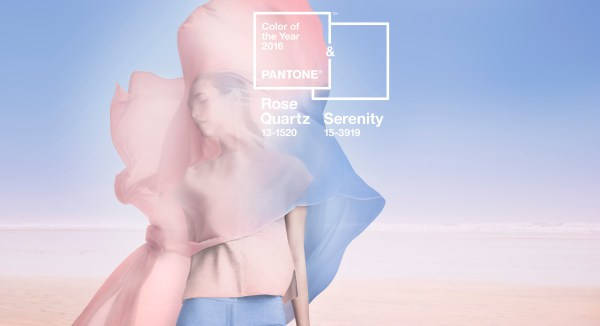 Pantone Rose Quartz and Serenity Visual