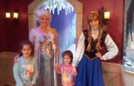 Meeting the Frozen Princesses at Disneyland