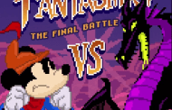 Mickey Mouse vs. Maleficent in this 8-bit version of Fantasmic