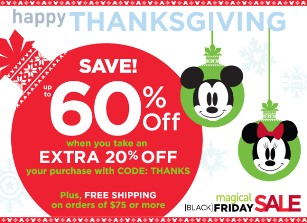 """The Disney Store """"Thanksgiving Sale"""" Starts Now"""