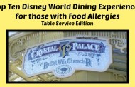 Top Ten Dining Experience for those with Food Allergies - Table Service Edition
