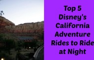Top 5 Disney's California Adventure Rides to Ride at Night
