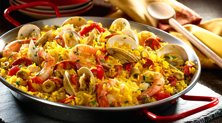 Paella espa ola con marisco y chorizo for Como cocinar paella
