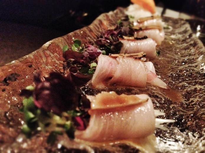 Chiswickish - Chisou Chiswick, Yellowtail Sashimi in Black Truffle Infused Soy - Platter