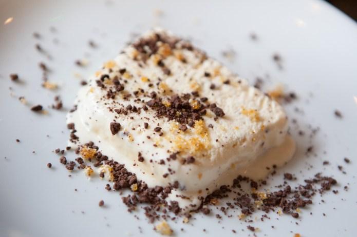 Hazelnut and salted caramel semifreddo