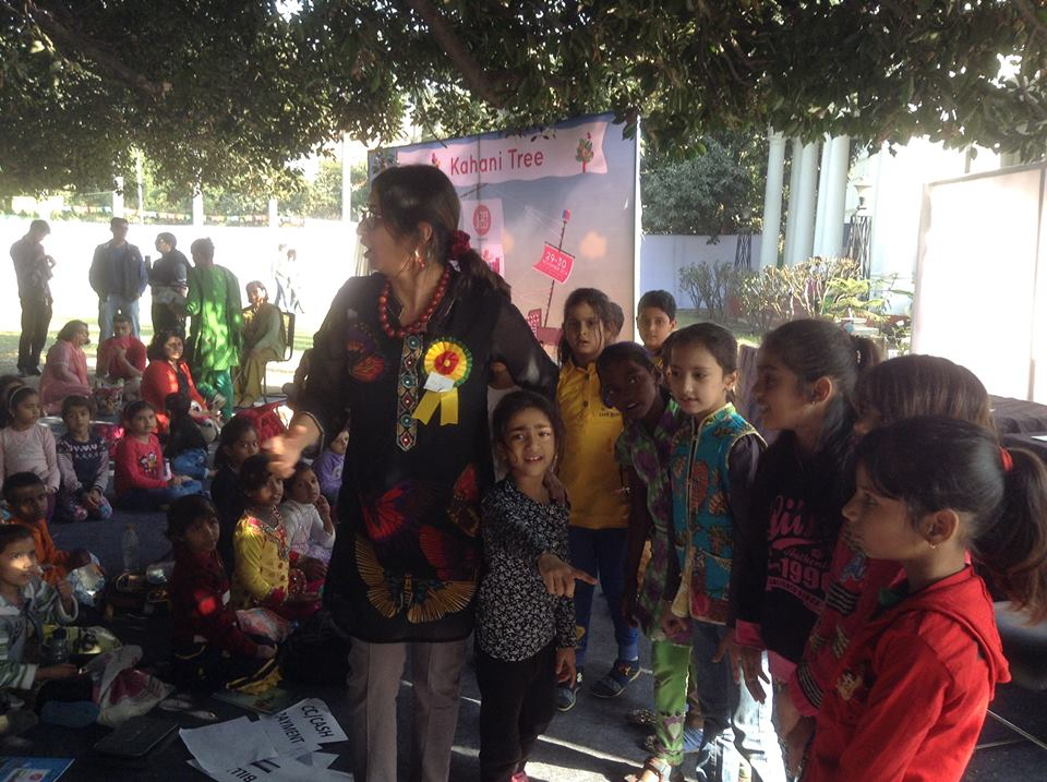 Stories under the Kahani Tree at Bookaroo!