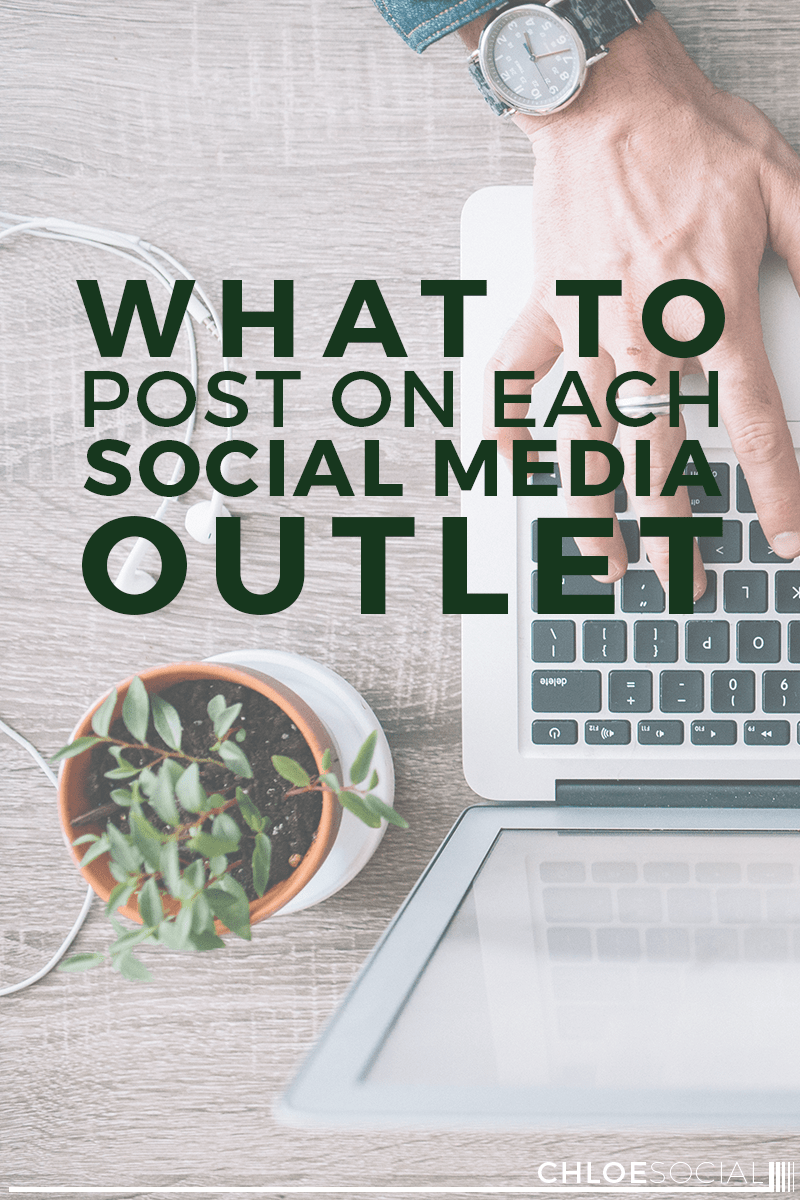 What to Post on Each Social Media Outlet