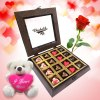 Twinkling Hearts Chocolates with Rose and Love Teddy
