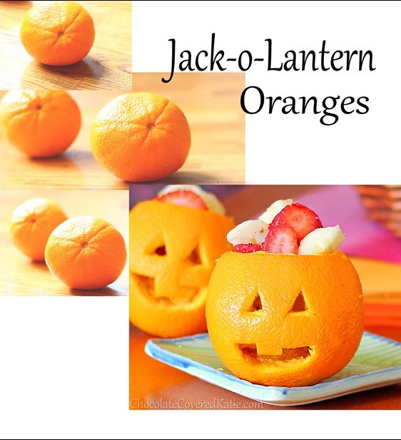 How to make Jack-o-Lanterns from oranges