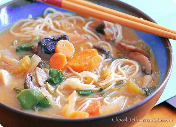 Vegetable Loaded Miso Soup