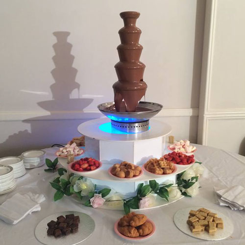 5 tiers chocolate fountain machine