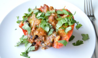 Turkey and Black Bean Enchilada Stuffed Peppers