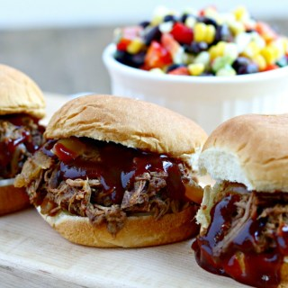Slow Cooker Shredded Barbecue Beef Sliders