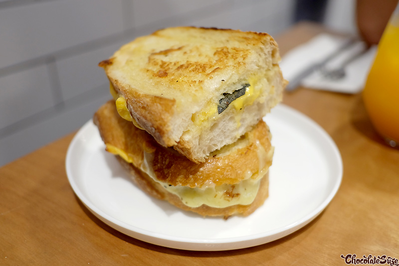 Double cheese and sage toastie at Ms Murray, Sydney