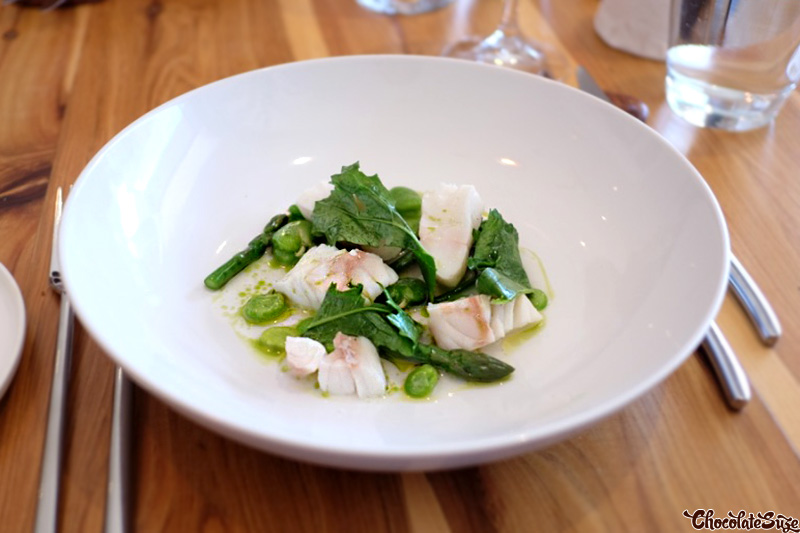 Poached cod at Moxhe, Bronte