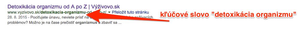 Kľúčové slovo v URL