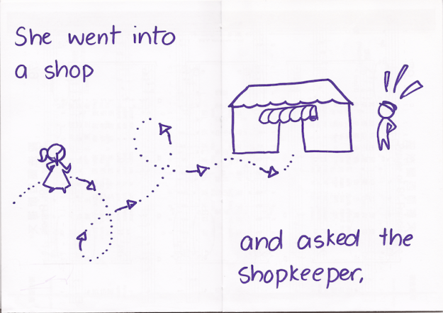 She went into a shop and asked the shopkeeper,