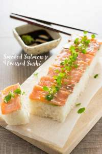 Pressed Sushi with Smoked Salmon スモークサーモンの押し寿司