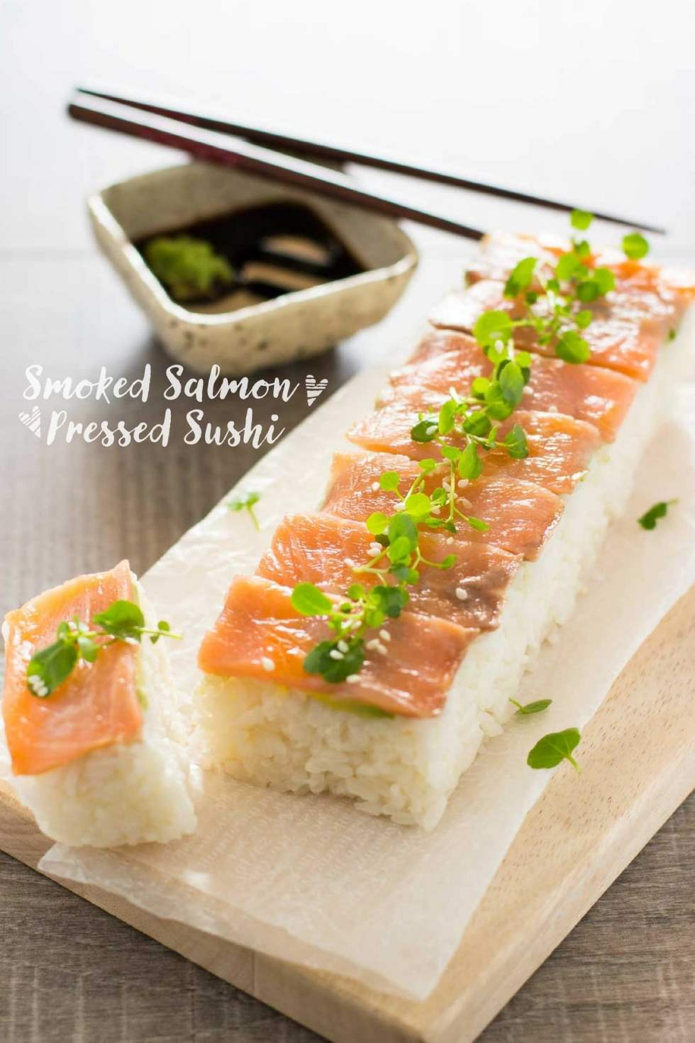 smaked salmon pressed sushi