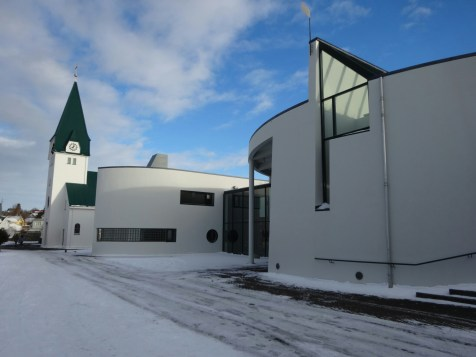 The seminary. There's lots of churches in Iceland, which befits a fishing community
