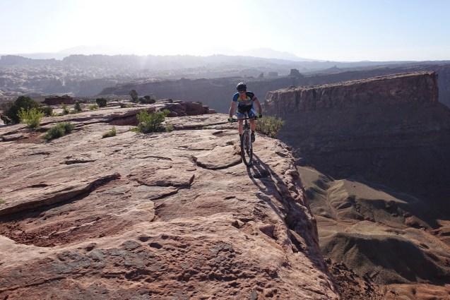 Sam riding on the edge.