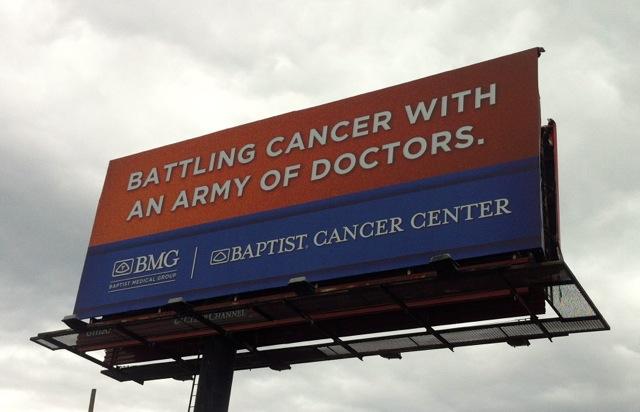 Battling Cancer Billboard