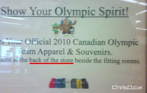Vacnouver 2010 Olympic Apparel - Zellers