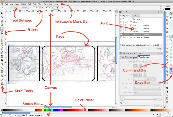 Inkscape's interface overview