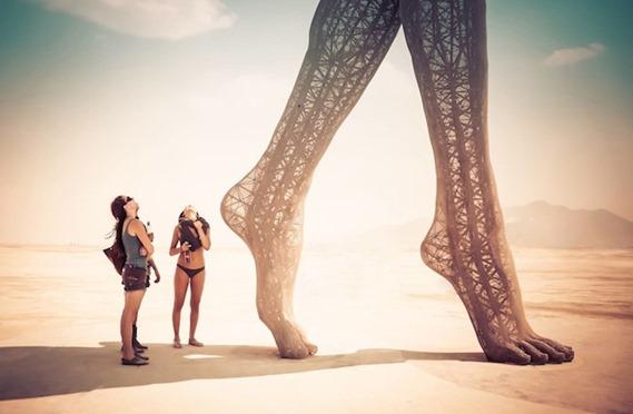 Burning Man Foot