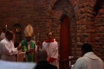 The Bishop addresses Fr Duncan and the congregation