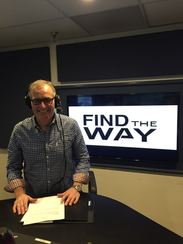 Dr. Mike Sherbino taping an episode of Find the Way. Provided courtesy of www.findtheway.faith