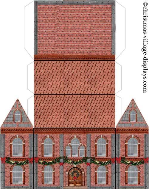 Medium Of Christmas Village Houses