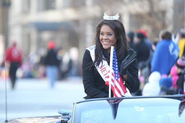 Parade Participant in a convertible at the 2013 Ameren Missouri Thanksgiving Day Parade.